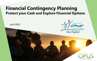 Opus Webinar: Financial Contingency Planning for Summer Camps