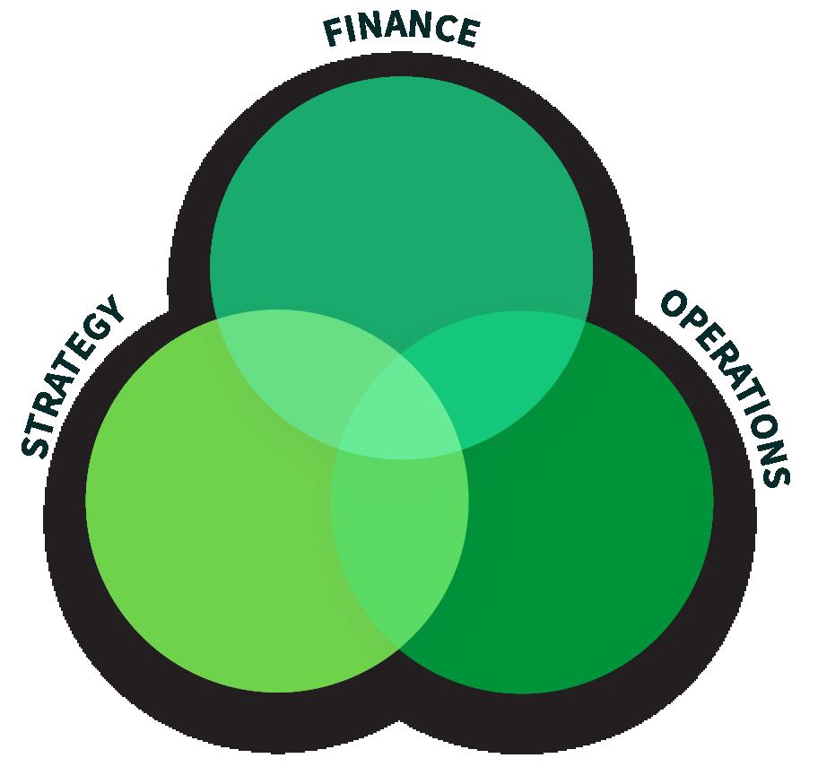 Finance Strategy Operations venn diagram